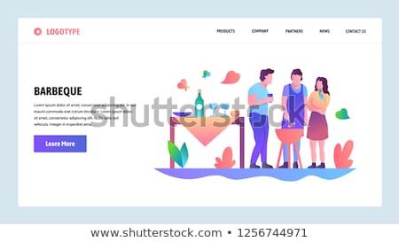 Partij landing pagina grillen Stockfoto © RAStudio