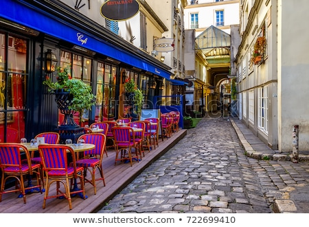 street view of a cafe terrace stock photo © ilolab