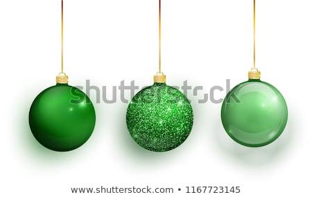 Christmas groene licht kleurrijk sneeuwvlokken Stockfoto © ElaK