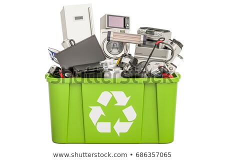 trashcan with electronic waste stock photo © gewoldi