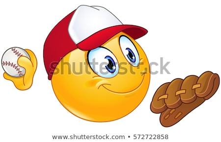 smiling ball in a baseball cap Stock photo © mayboro
