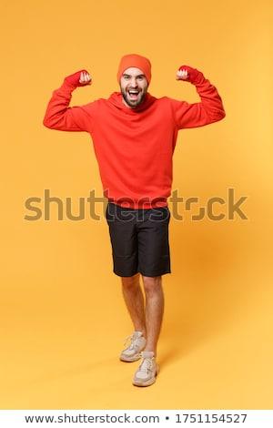 músculo · boxeador · homem · punho · bandagem - foto stock © lunamarina