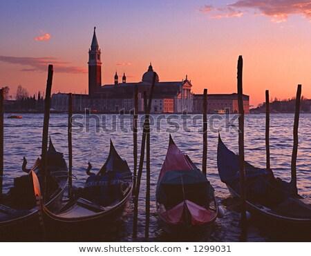 Aziz ada gondol Venedik İtalya su Stok fotoğraf © vladacanon
