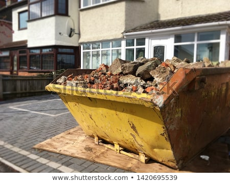 old yellow skip Stock photo © prill