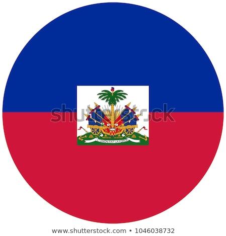 Haiti bandeira ícone isolado branco projeto Foto stock © zeffss