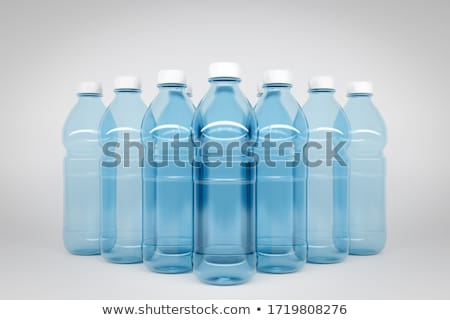 Bottled water in 5 sizes isolated Stock photo © ozaiachin