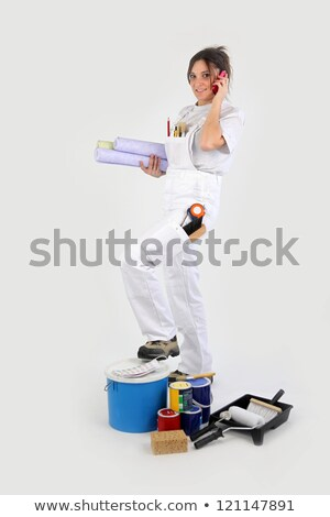 Female decorator booking jobs over the telephone Stock photo © photography33