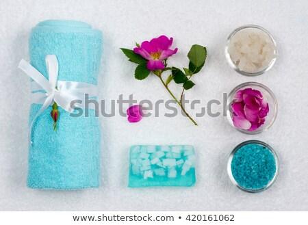 Fürdősó fehér forma csillag fürdőkád makró Stock fotó © RuslanOmega