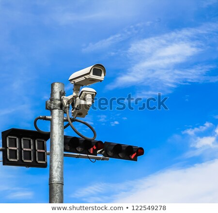 Video Surveillance Camera Sign Blue Eye ストックフォト © Tungphoto