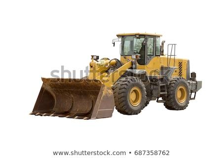Buldózer vezetés kosz épület munka homok Stock fotó © jadthree