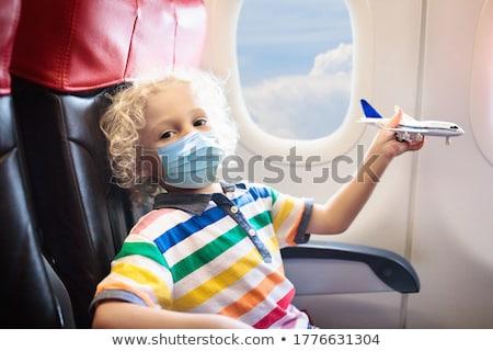 görmek · pencere · uçak · uçmak · üzerinde · arazi - stok fotoğraf © vividrange