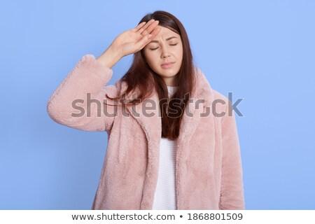 зима девушки роскошь шуба розовый модель Сток-фото © Victoria_Andreas