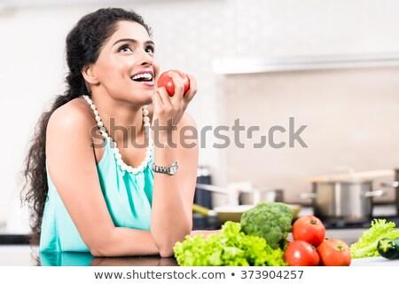 ázsiai · nő · eszik · éhes · eszik · étel - stock fotó © photography33