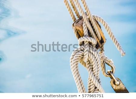 Navegação três vermelho corda barco mar Foto stock © lebanmax