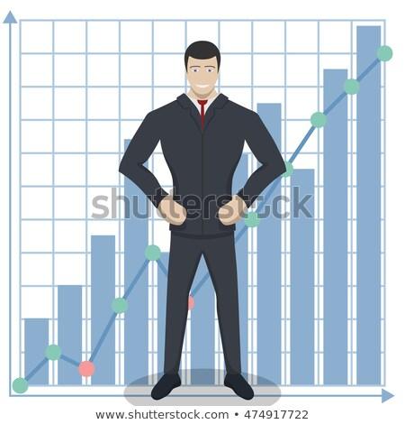 Self-assured businessman doing a presentation Stock photo © wavebreak_media