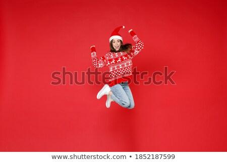 портрет страстный брюнетка изолированный белый женщину Сток-фото © acidgrey