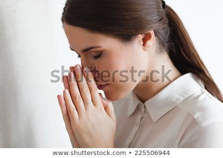Tristeza religião mulher oração alma espírito Foto stock © gromovataya