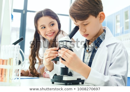 little boy in chemistry class stock photo © photography33