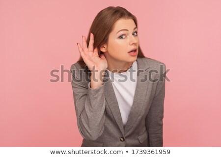 Nosy brunette businesswoman Stock photo © photography33
