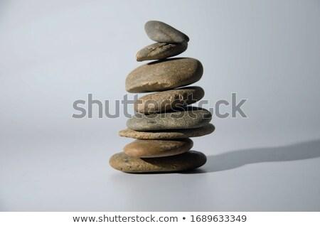 Dengeleme taşlar kadın el Stok fotoğraf © winterling