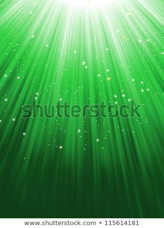 Green luminous rays. EPS 8 Stock photo © beholdereye