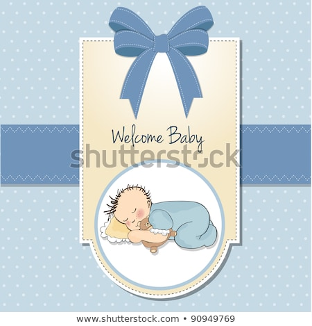 boy, shower, thanks, baby, fun, greetings, emotional, special, playfulness, anniversary, duck toy, c Stock photo © balasoiu
