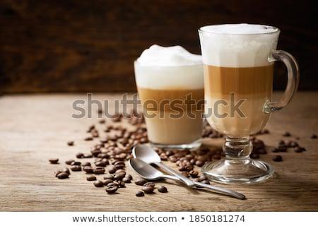 coffee beans on a latte macchiato Stock photo © Rob_Stark