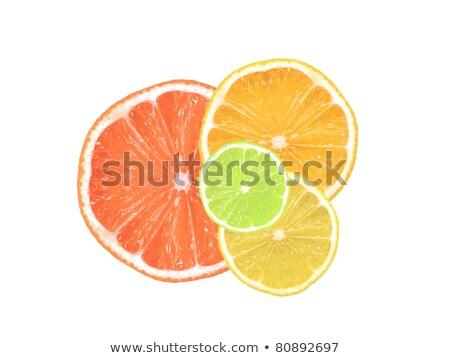 Pomarańczowy plasterka biały kolor cukru jasne białe tło Zdjęcia stock © wavebreak_media