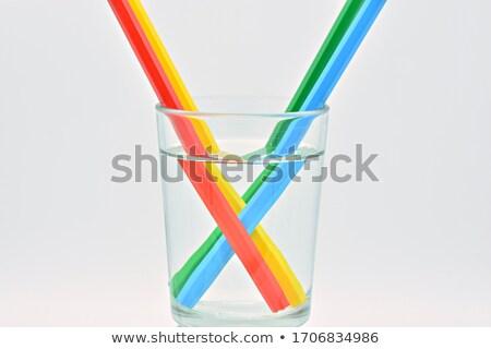 Pitnej wody zielone pić kolor fioletowy Zdjęcia stock © cheyennezj