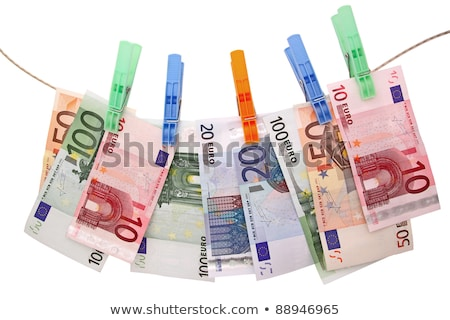 twenty euro  hung on a washing line Stock photo © Grazvydas