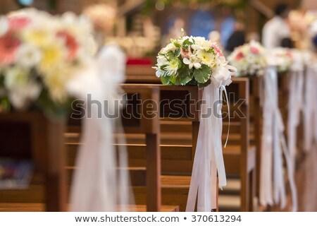 свадьба день цветы Церкви цветок Сток-фото © KMWPhotography