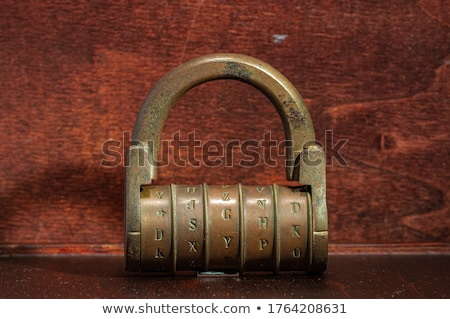 velho · enferrujado · trancar · enfeitar · porta - foto stock © stocksnapper