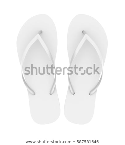 Flip Flop On White Stock photo © cosma