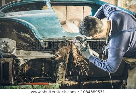 vonk · ontsteking · oude · auto · ondiep · auto · kaars - stockfoto © paha_l