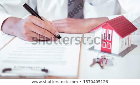 contrato · casa · venda · nova · casa · falsificação · texto - foto stock © cmcderm1