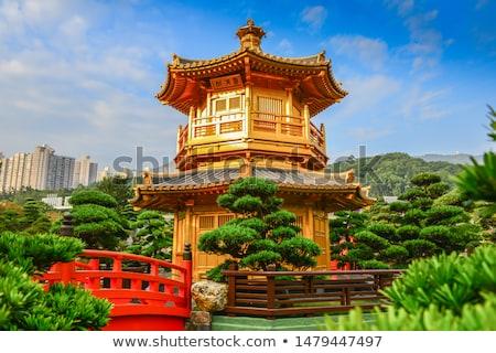 Stock fotó: Rom · Hongkong · égbolt · építkezés · fal · szoba