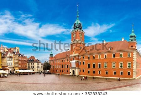 Warschau koninklijk kasteel oude binnenstad Polen kunst Stockfoto © FER737NG
