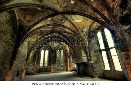 Abdij ruines architectuur gothic geschiedenis antieke Stockfoto © tilo