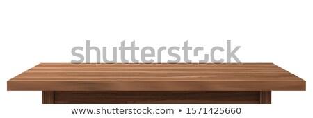 Starych biurko drewna książek Zdjęcia stock © ABBPhoto