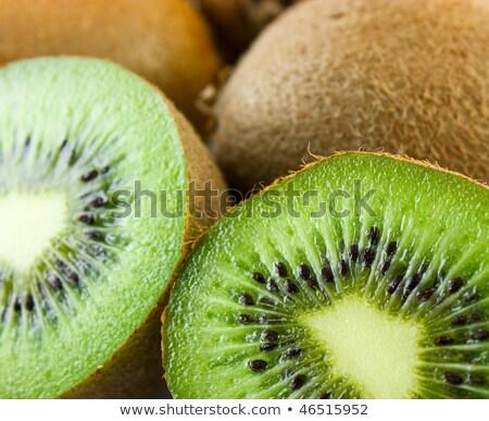 kiwi · gyümölcsök · fa · makró · részlet · mezőgazdaság - stock fotó © lunamarina