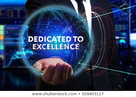 dedicado · excelência · comunicação · corporativo · serviço · trabalho - foto stock © kbuntu