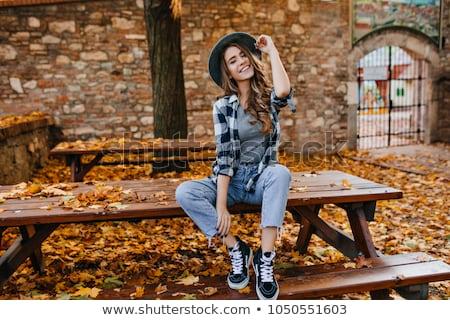 komoly · ősz · kunyhó · dokk · víz · erdő - stock fotó © arenacreative