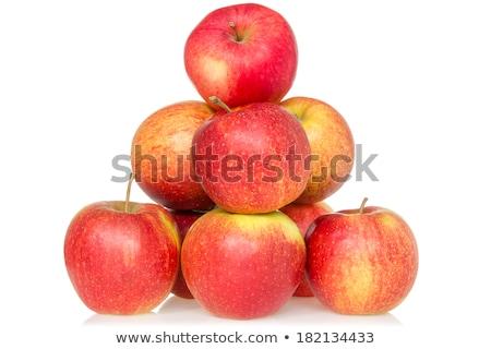 Piros almák piramis fehér uralom fogalmak Stock fotó © Mikko
