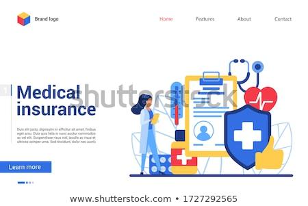 icon · huis · geneeskunde · nood · concept - stockfoto © myvector