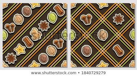 Vetor conjunto colorido piquenique cozinhar toalha de mesa Foto stock © freesoulproduction