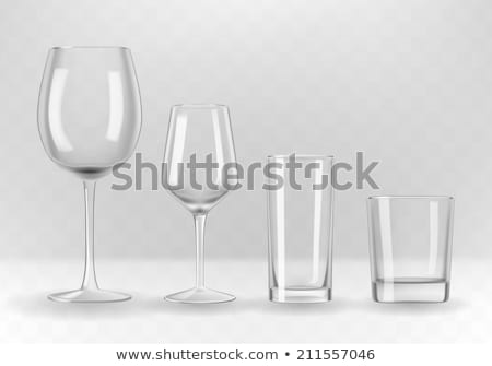 cocktail glass set empty red and white wine glasses isolated on stock photo © escander81