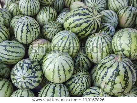 Watermelons were piled up Stock photo © ryhor