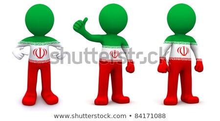 emberek · zászló · Irán · izolált · fehér · tömeg - stock fotó © kirill_m
