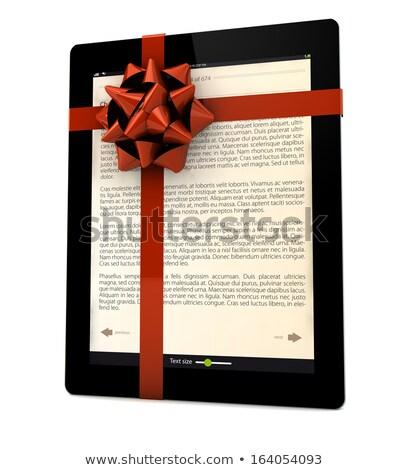 Cadeau ordinateur fond web écran Photo stock © georgejmclittle