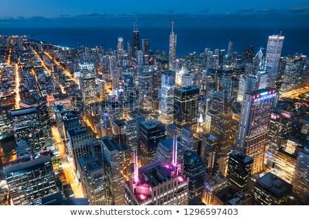Kilátás hotel ablak Chicago felhőkarcolók építészet Stock fotó © CaptureLight